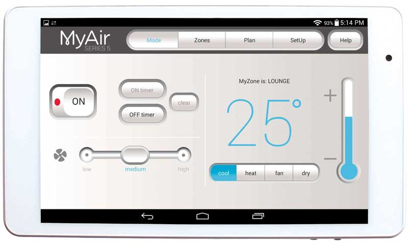 TC Air installs Advantage Air's MYAIR5 air con controllers